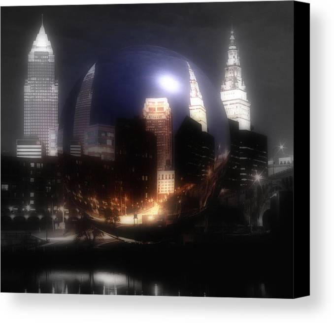 Cleveland Canvas Print featuring the photograph City On The North Coast by Kenneth Krolikowski