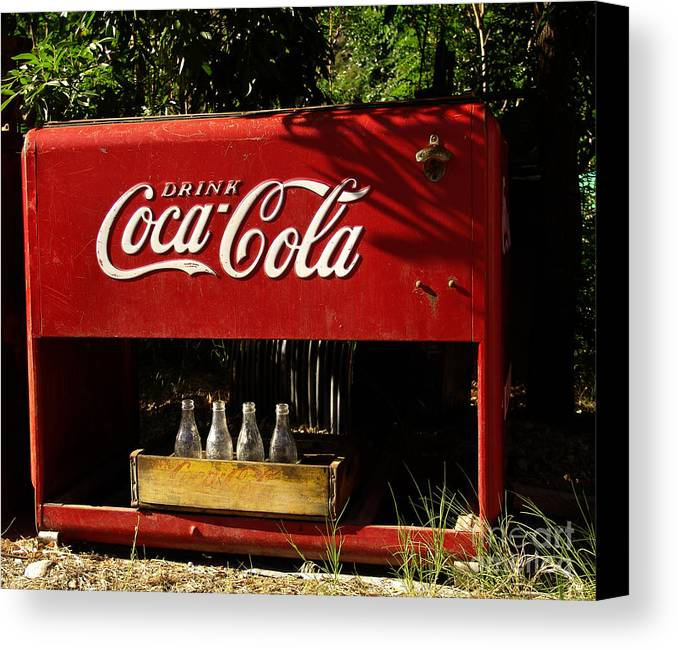 Coke Canvas Print featuring the photograph Coca-cola by Carol Milisen