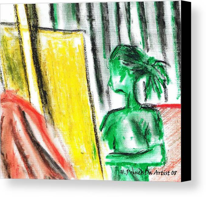 Canvas Print featuring the mixed media Creating Master Peace by HPrince De Artist