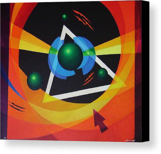 Abstract Canvas Print featuring the painting Crossing by Alberto DAssumpcao