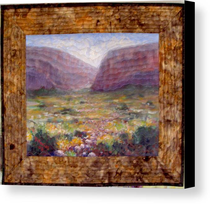 Realism Canvas Print featuring the mixed media Desert Spring by Diane and Donelli DiMaria