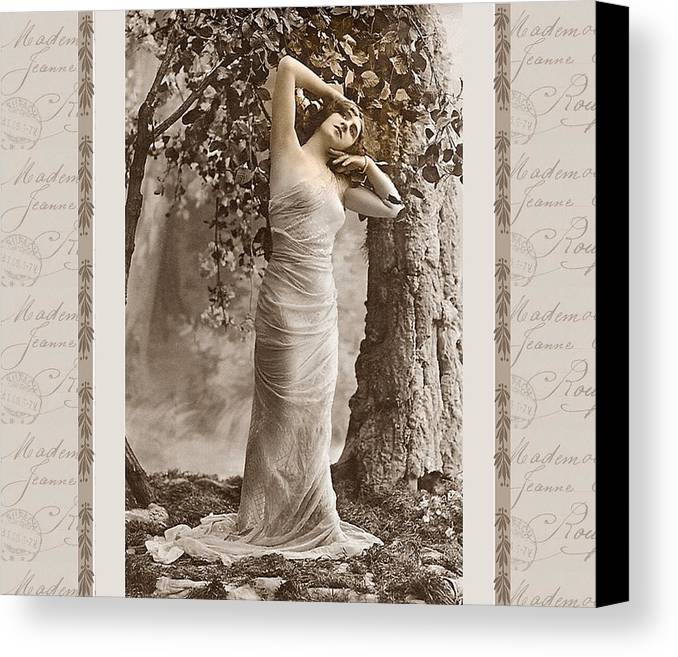 Vintage Canvas Print featuring the photograph Dream Of The Night by Mary Morawska