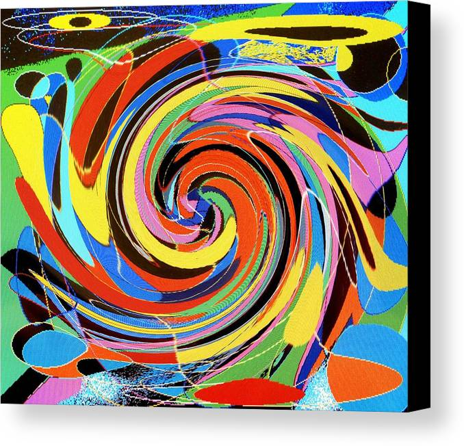 Canvas Print featuring the digital art Escaping The Vortex by Ian MacDonald