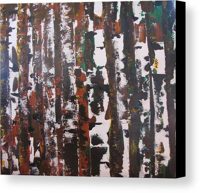 Abstract Canvas Print featuring the painting Forest For The Trees by Gary Smith