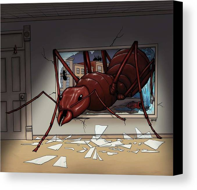 Giant Canvas Print featuring the digital art Giant Ant by Scott Harshbarger