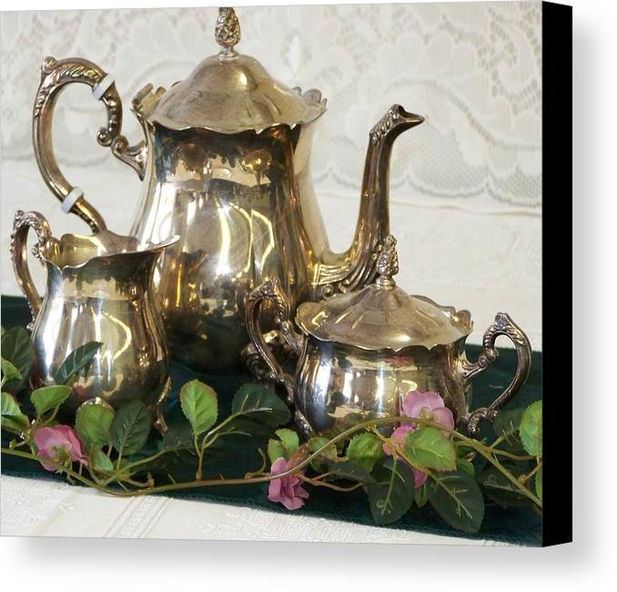 Digital Photography Canvas Print featuring the photograph High Tea by Laurie Kidd
