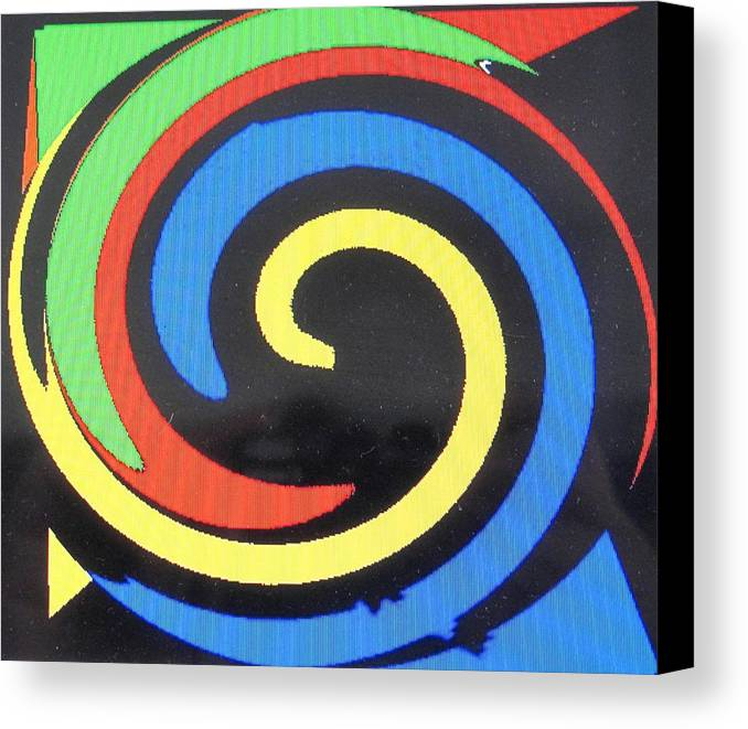 Red Canvas Print featuring the digital art In Balance by Ian MacDonald