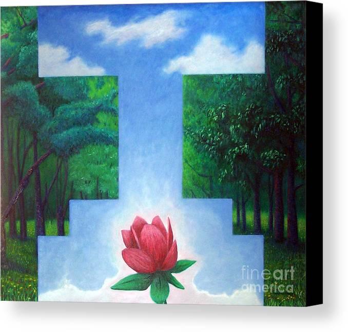 Spiritual Canvas Print featuring the painting Inner Bliss by Brian Commerford