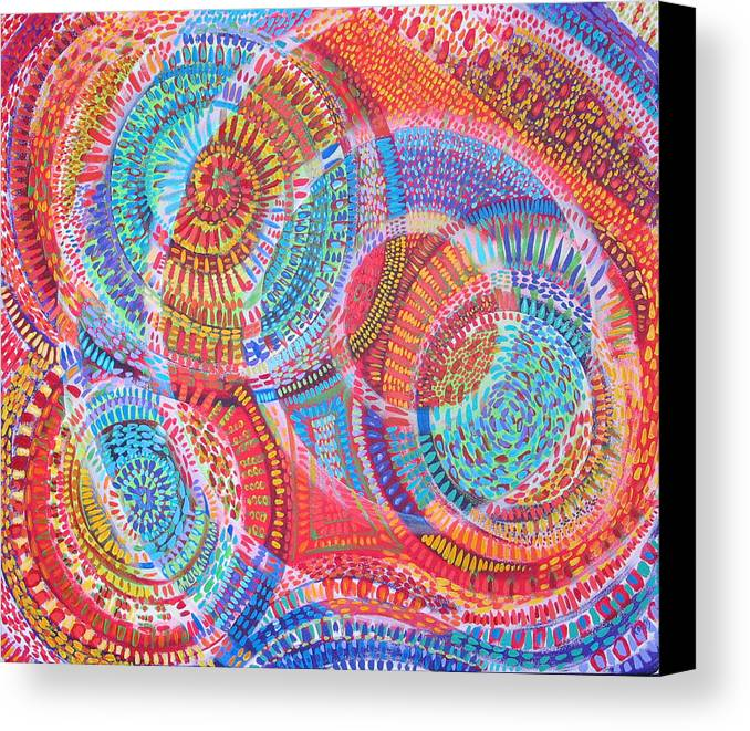 Geometric Canvas Print featuring the painting Microcosm Viii by Rollin Kocsis