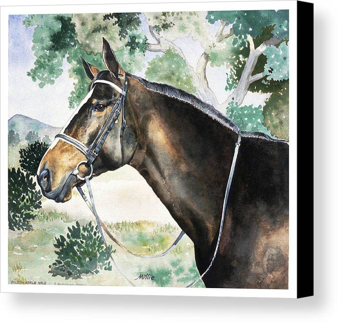 Portrait Canvas Print featuring the painting Millie by Eileen Hale