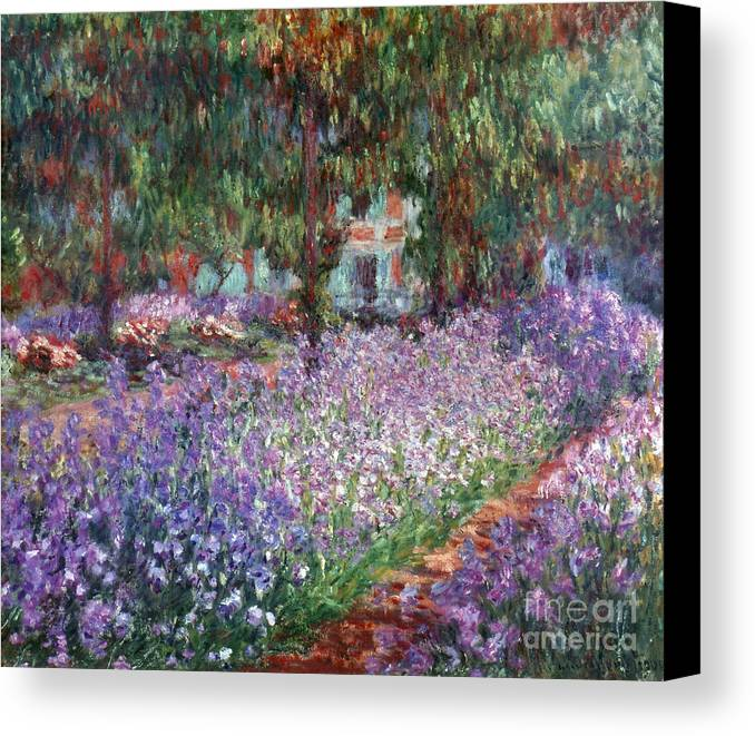 1900 Canvas Print featuring the photograph Monet: Giverny, 1900 by Granger