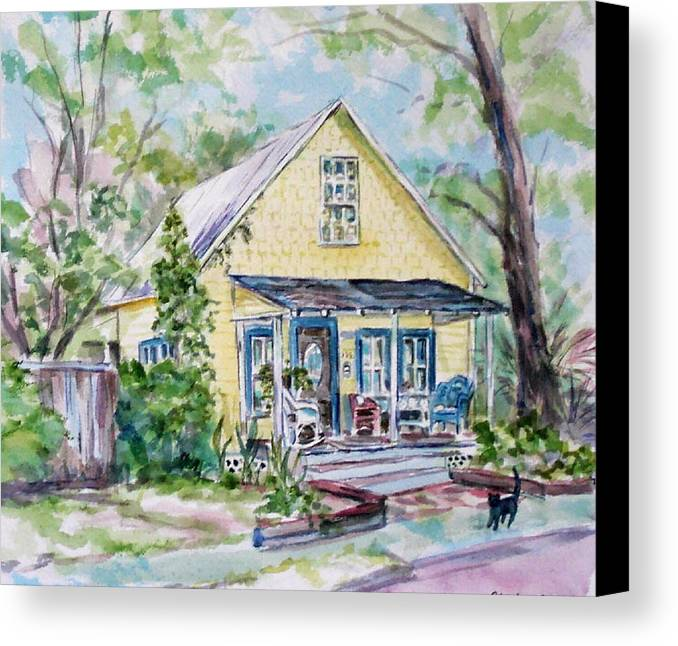 House Canvas Print featuring the painting One Thirty Five by Ruth Mabee