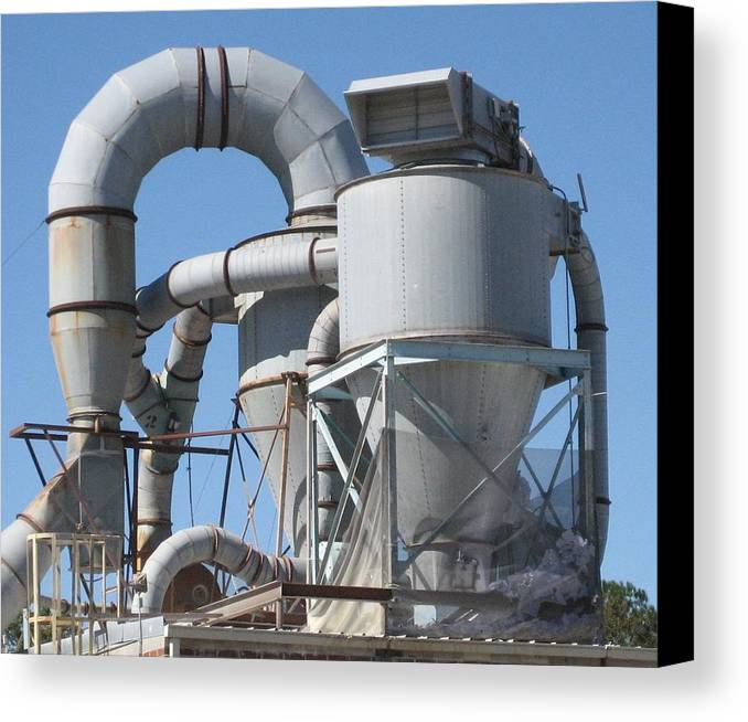 Digital Photograph Canvas Print featuring the photograph Paper Recycling Plant 2 by Stephen Hawks