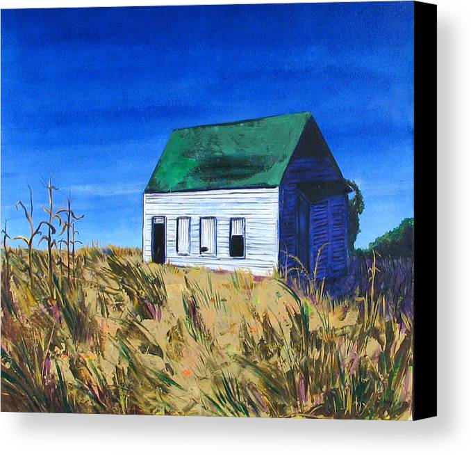 Landscape Canvas Print featuring the painting Rural House by Rollin Kocsis