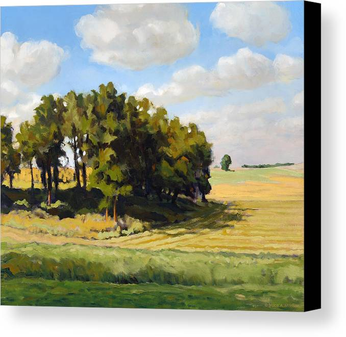 Landscape Canvas Print featuring the painting September Summer by Bruce Morrison