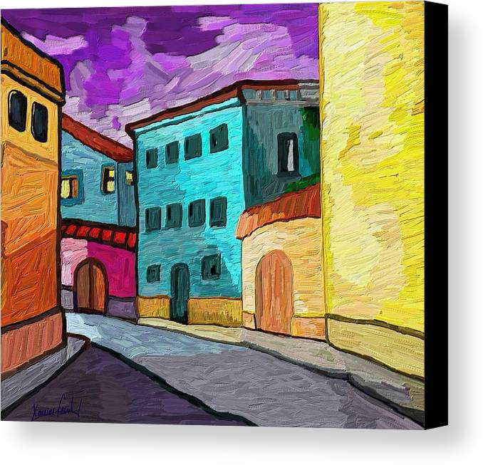 Figurative Canvas Print featuring the painting Tarraco by Xavier Ferrer