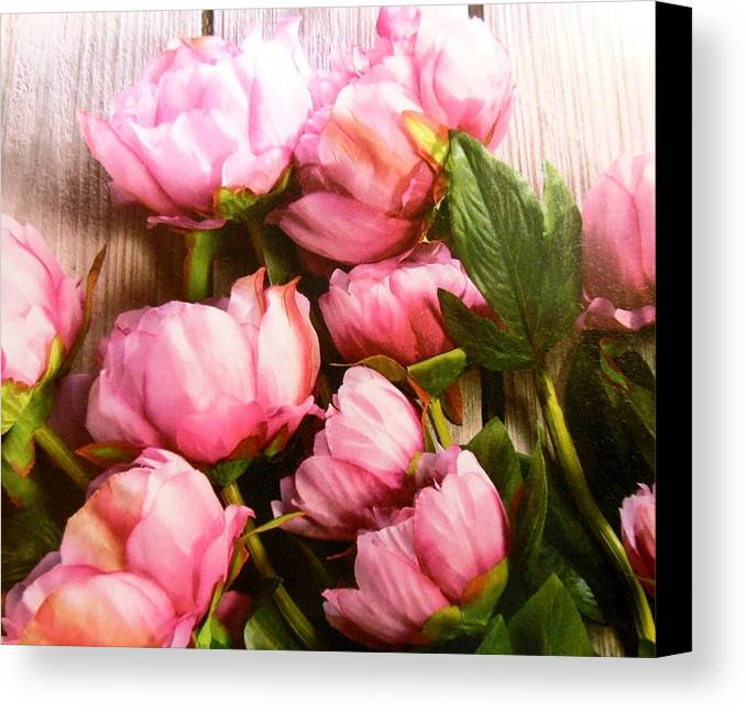 Flowers Canvas Print featuring the photograph Tulips by Lord Frederick Lyle Morris