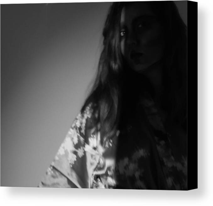 Black And White Canvas Print featuring the photograph Two-faced by Stephanie Berry