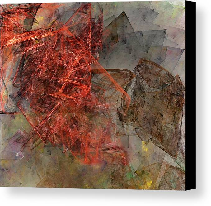 Digital Painting Canvas Print featuring the digital art Untitled 01-15-10-a by David Lane