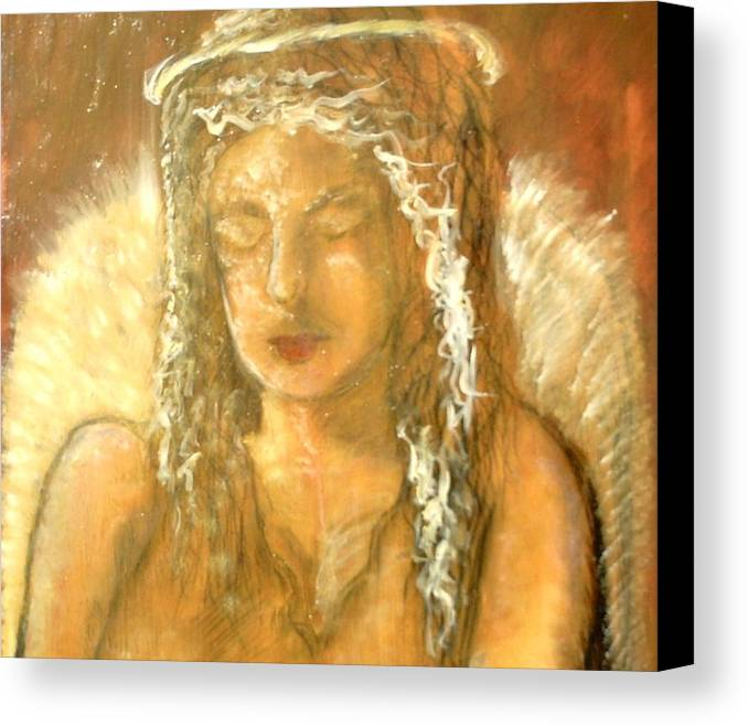 Angels Canvas Print featuring the painting Warm Dreams by J Bauer