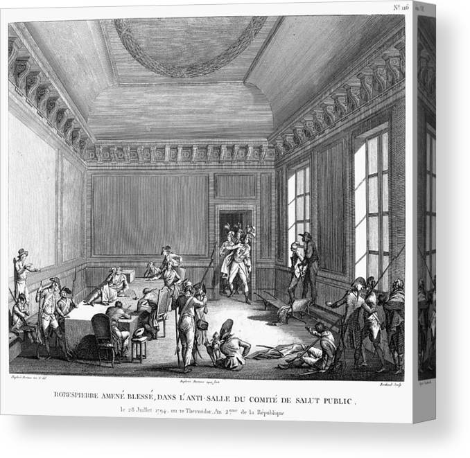 1794 Canvas Print featuring the painting Maximilien Robespierre (1758-1794) by Granger