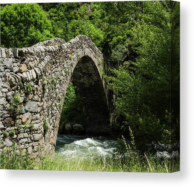Photography Canvas Print featuring the photograph Principality Of Andorra. Pont De La by Panoramic Images