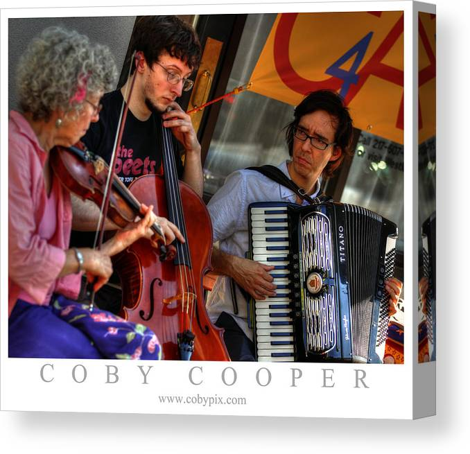 Music Canvas Print featuring the photograph Urbana Trio by Coby Cooper