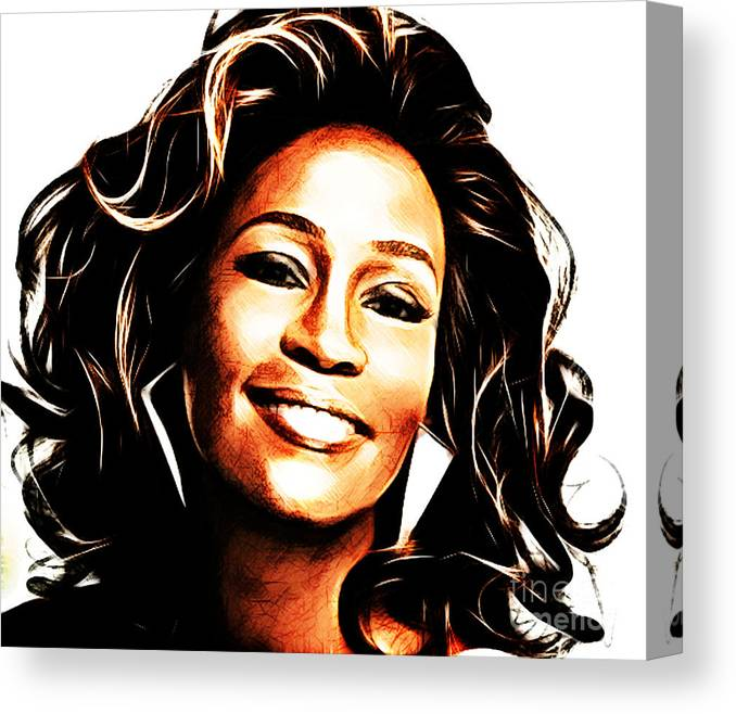 Canvas Whitney Houston Art Print Poster