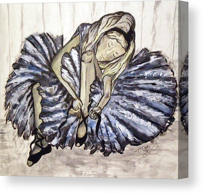 Ballet Canvas Print featuring the painting Ballerina Girl by Tammera Malicki-Wong