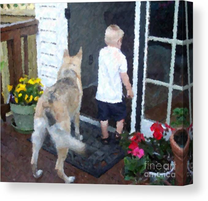 Dogs Canvas Print featuring the photograph Best Friends by Debbi Granruth