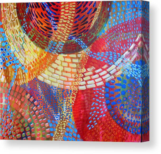 Dots Canvas Print featuring the painting Microcosm IIi by Rollin Kocsis