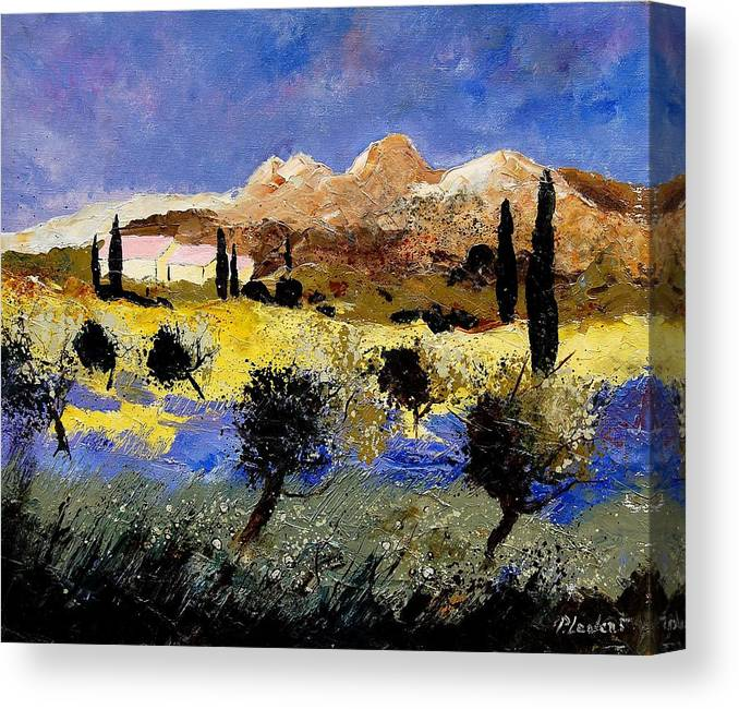 Provence Canvas Print featuring the painting Provence 674525 by Pol Ledent