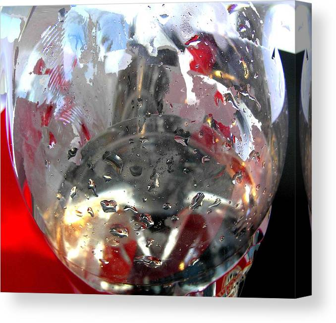 Red Canvas Print featuring the photograph Red Lantern And Soda Water 7 by Evguenia Men