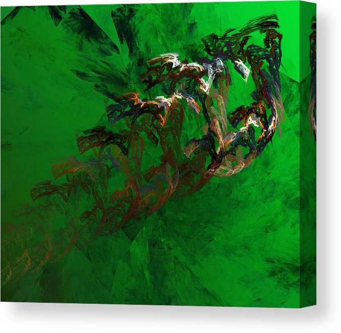 Digital Painting Canvas Print featuring the digital art Untitled 01-15-10 by David Lane