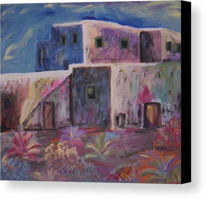 Landscape Canvas Print featuring the painting Santa Fe Dreams by Lindsay St john