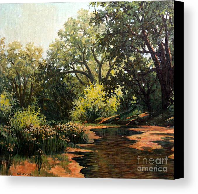 Landscape Canvas Print featuring the painting Study Of Michael Stack by W Scott Fenton