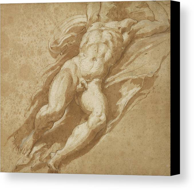 1503 Canvas Print Featuring The Drawing Figure Study Parmigianino Francesco  Mazzola By Litz Collection