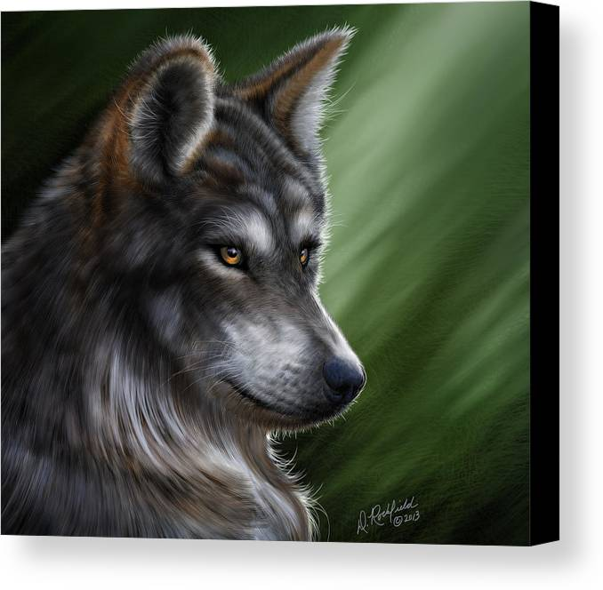 Canvas Print featuring the painting Forest Warrior by Darryl Rockfield