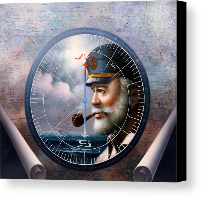 Sea Captain Canvas Print featuring the painting Imperishable Map Captain 6 by Yoo Choong Yeul
