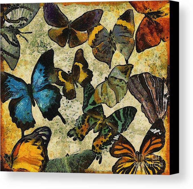 Butterfly Canvas Print featuring the digital art The Butterfly Collection #1 by Nola Lee Kelsey