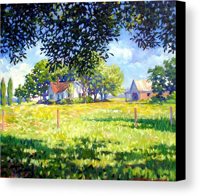 Country Canvas Print featuring the painting Jasons House by Kevin Lawrence Leveque