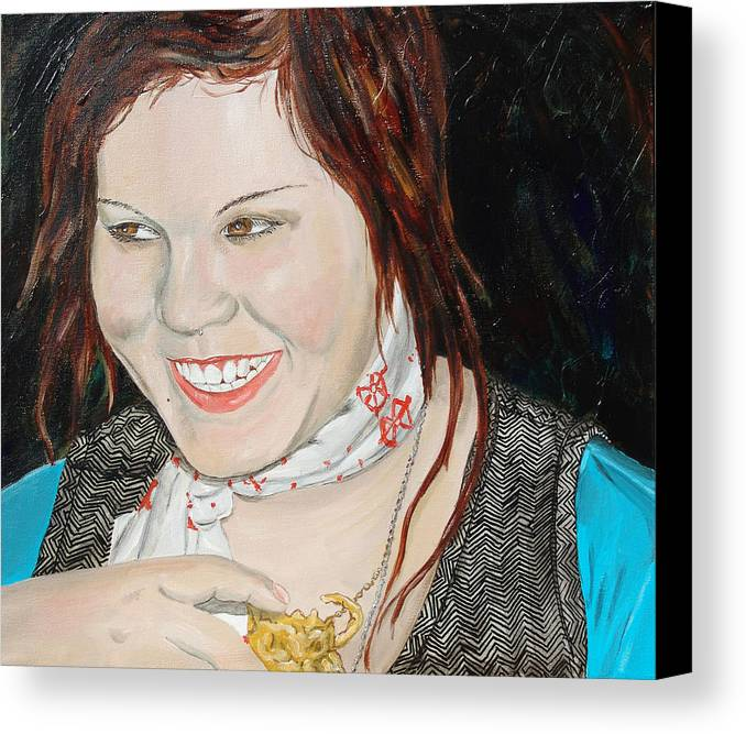 Kevin Callahan Canvas Print featuring the painting Alyssa Smiles by Kevin Callahan