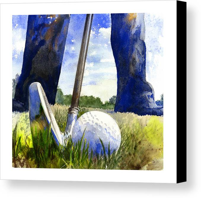 Watercolor Canvas Print featuring the painting Anticipation by Andrew King