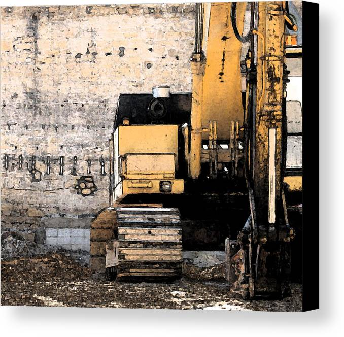 Construction Canvas Print featuring the photograph Excavator by Gary Everson