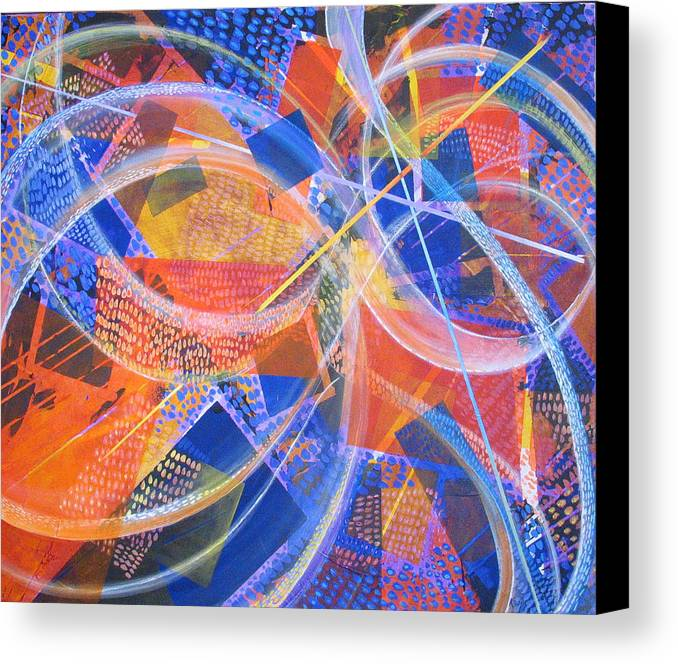 Non-representational Canvas Print featuring the painting Microcosm Xiii by Rollin Kocsis