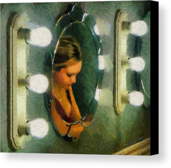 Bridesmaid Canvas Print featuring the painting Mirror Mirror On The Wall by Jeffrey Kolker