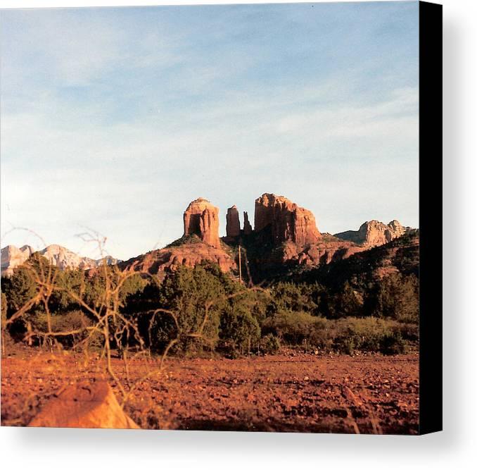 Oak Creek Canyon Canvas Print featuring the photograph Oak Creek Canyon by Lauri Novak