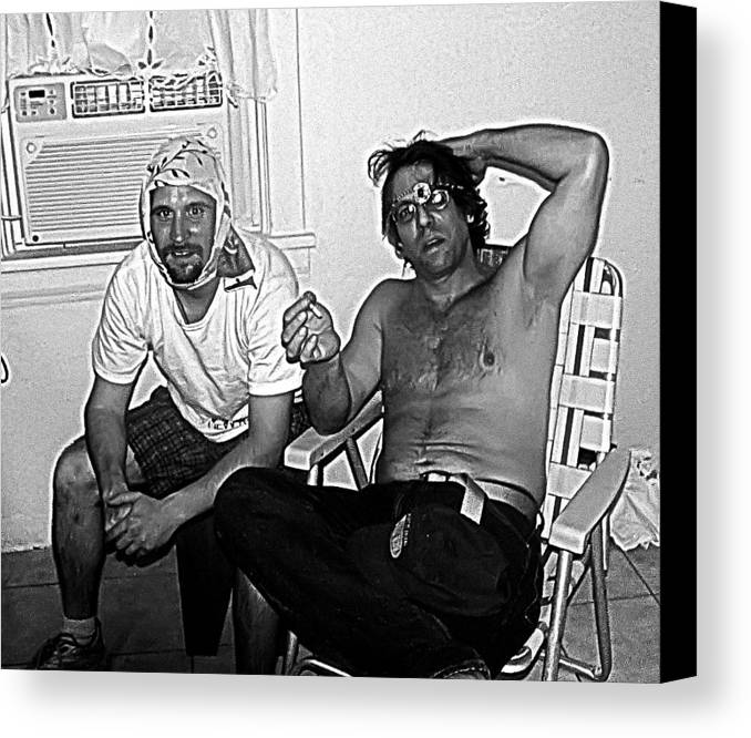 Crack Heads Canvas Print featuring the photograph reason not to do Drugs by John Toxey