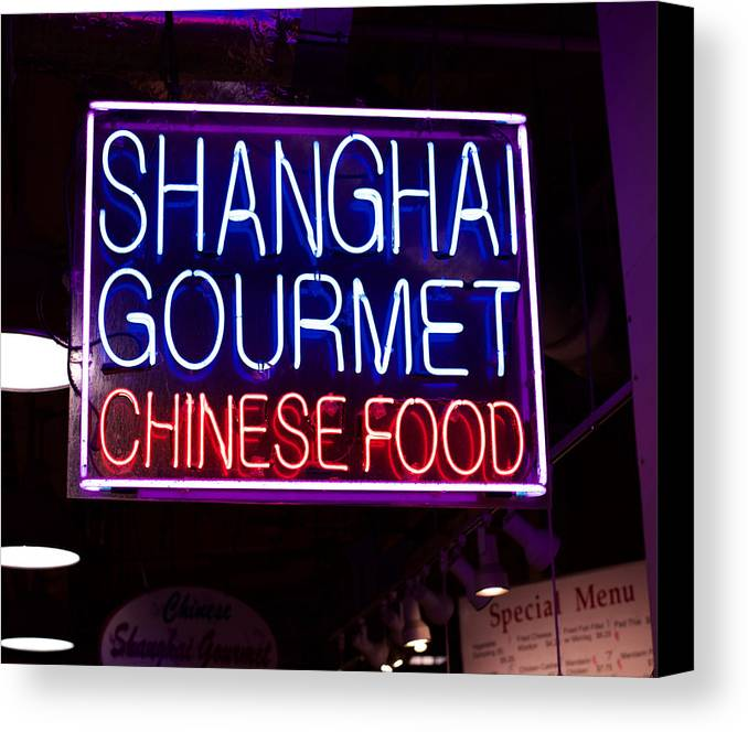 Canvas Print featuring the photograph Shanghai Chinese Food by Ronald Watkins