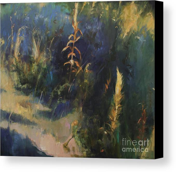 Lin Petershagen Canvas Print featuring the painting Sunny Day by Lin Petershagen